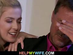 Nasty blonde wife gets banged by a stranger