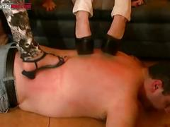 The plumber- multi barefoot trampling