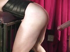 Strapon training a chastity slave