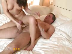 Orgasms short girl with cute little ass rides cock to orgasm real amateur couple