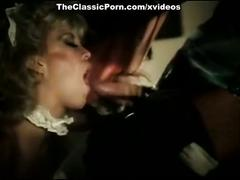 Vintage blow job from maid under table