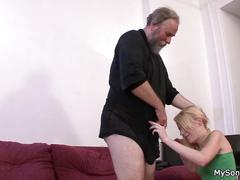 Father in law punishes son's girl