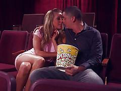 blonde, babe, cinema, blowjob, big boobs, pussy licking, fingering, boobs grope, public place, wicked pictures, samantha saint