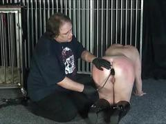 Chinas electro tortures and needle bdsm of mature bbw slave slut in caddle