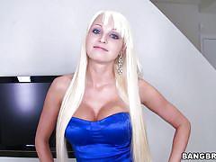blonde, babe, round ass, deepthroat, long hair, blowjob, big boobs, from behind, undressing, big mouthfuls, bangbros network, rikki six