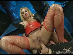 Cathy heaven gets assfucked during a threesome