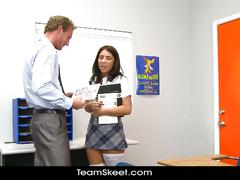Hot schoolgirl evi fox gets fucked by the teacher