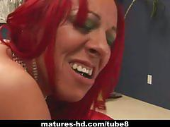 Redhead milf with big tits get fucked