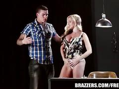 Brazzers blonde alena rides her man's cock