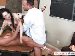 Hot coeds abby lee brazil and sandra luberc gets nailed in class