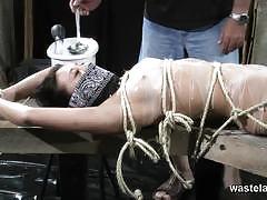 brunette, asian, babe, pussy, bdsm, bondage, masturbation, toys, forced, slave, mistress, whip, torture, humiliation, femdom, dungeon, painful