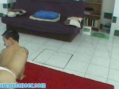 Ceczh babe shows lap dance talent