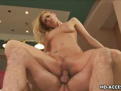 Mature milf is fucked by huge cock in both holes