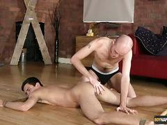 Lucas and kiron anal toying session