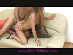 Femaleagent anal delight on the casting couch