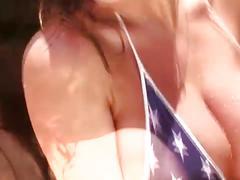 amateur, babe, big tits, brunette, solo, outdoor,
