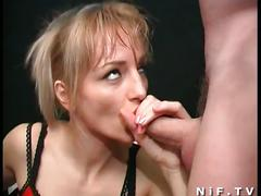Vicious blonde gets banged from both ends
