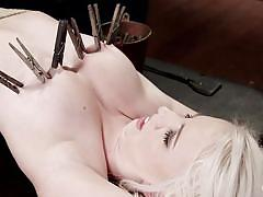 small tits, bdsm, whipping, punishment, vibrator, spread legs, blonde babe, clothespins, hogtied, kink, darcie belle, sgt. major