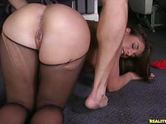 Big ass babe mischa enjoys big hard cock deeply.