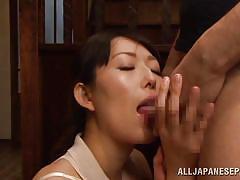 mature, japanese, pov blowjob, blowjob, black hair, licking balls, on knees, nippon, japanese matures, all japanese pass, sorami haga