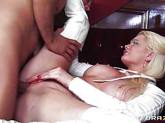 Hot boobs blonde fucked hard