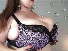 Huge white whore and a huge black cock