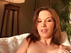 Candy sweet masturbates before getting screwed