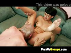 Teen slut enjoys old man fuck