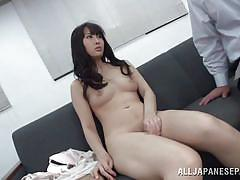 Japanese woman is convinced to masturbate