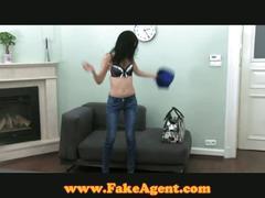 Brunette teenie raven casting couch