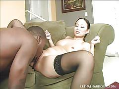 milf, interracial, asian, stockings, blowjob, pussy licking, position 69, hot round ass, bbc, shaved vagina, asian chicks like black dicks, niya yu