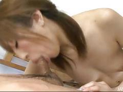 Cum hungry yuu mizuki gets a hot wet facial