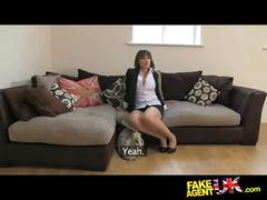 Fakeagentuk amazing deep throat skills from shy petite amateur