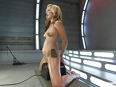 Blonde and her fucking machine