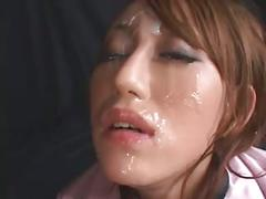 Cute tiny japanese swallows cum