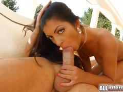 All internal cumshot drips from her latina pussy