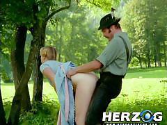 blonde, retro, outdoor, village, cowgirl, nature, fuck fom behind, gun, herzog videos
