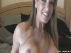 Gorgeous big boobies milf mia strips and plays