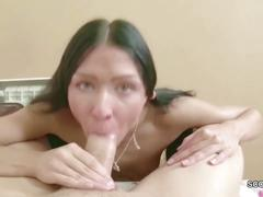 Bro caught petite step-sister with toy in ass and fuck anal