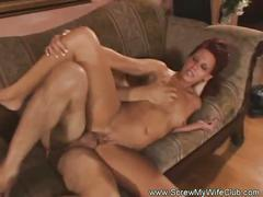 Redhead milf gets fucked infornt of her hubby