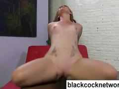 Mandingo fucking a shaved white pussy