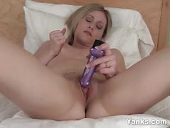 Slim cutie maddie masturbating her pussy