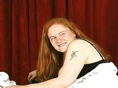 Chubby hairy cunted redhead kirsten gets off on torture