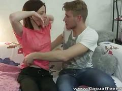 Skinny russian teen dasha couch fuck