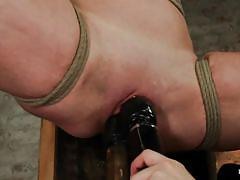 Cheap whore tied and exploited