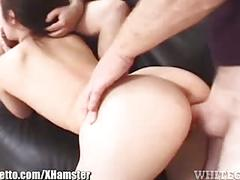 Whiteghetto big-boobed asian creampied