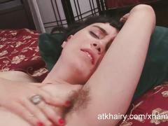 Barb gets her hairy pussy fucked hard.