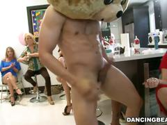 Party gone crazy when dancing bear joined