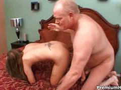 Autumn skye fucked by an old man