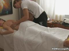 Massage and deep pussy pounding included